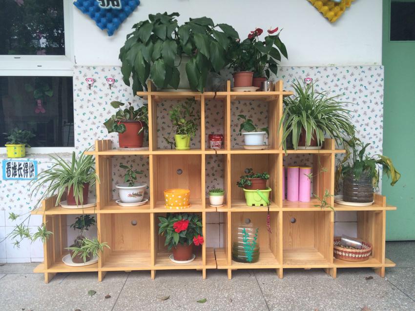 幼儿园木制花架组合