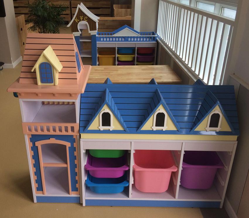 幼儿园娃娃家烤漆木制柜