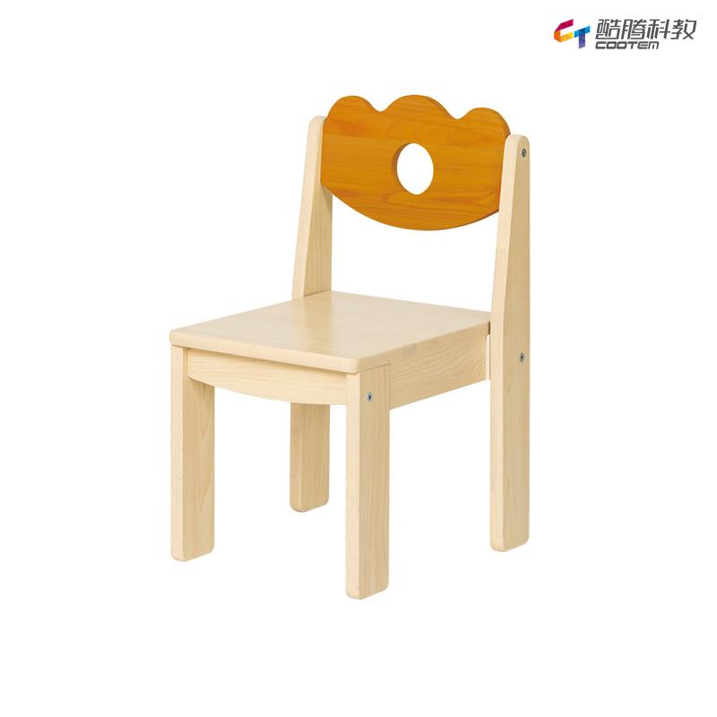 雅典花园幼教椅27CM-枫木桔黄