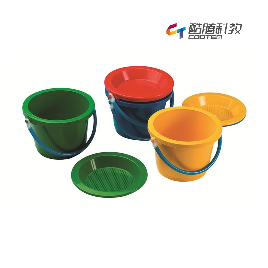 塑料沙漏(共4色)沙桶上