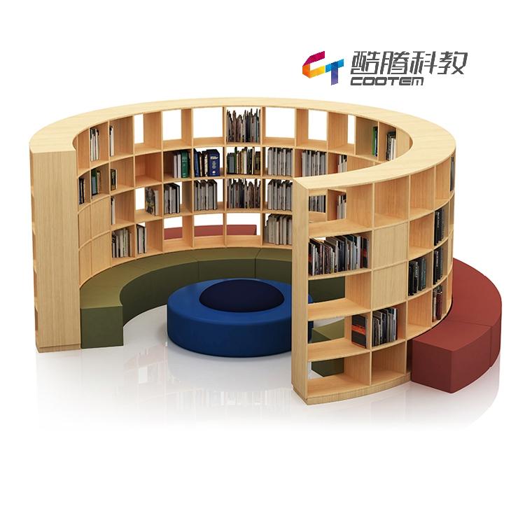 图书馆——圆形沙发书柜
