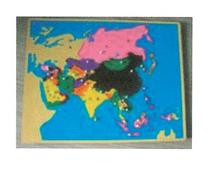 亚洲地图嵌板