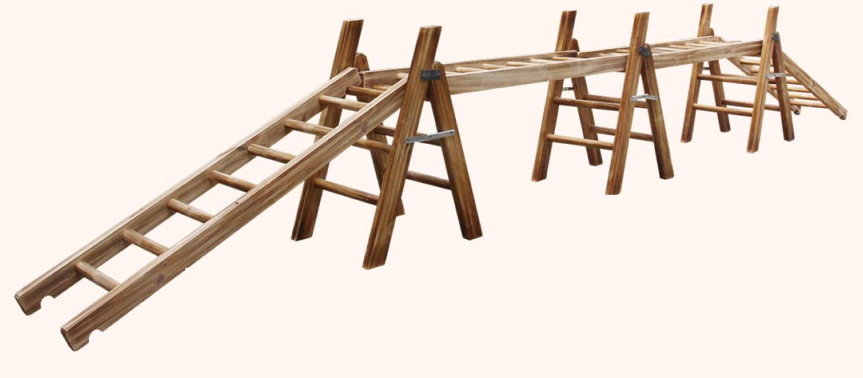 梯子组合户外木制游戏