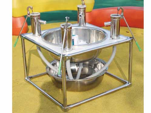四人共享排水阀吸水台