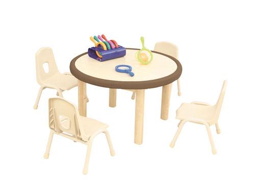 淘乐幼儿圆桌-浅棕色