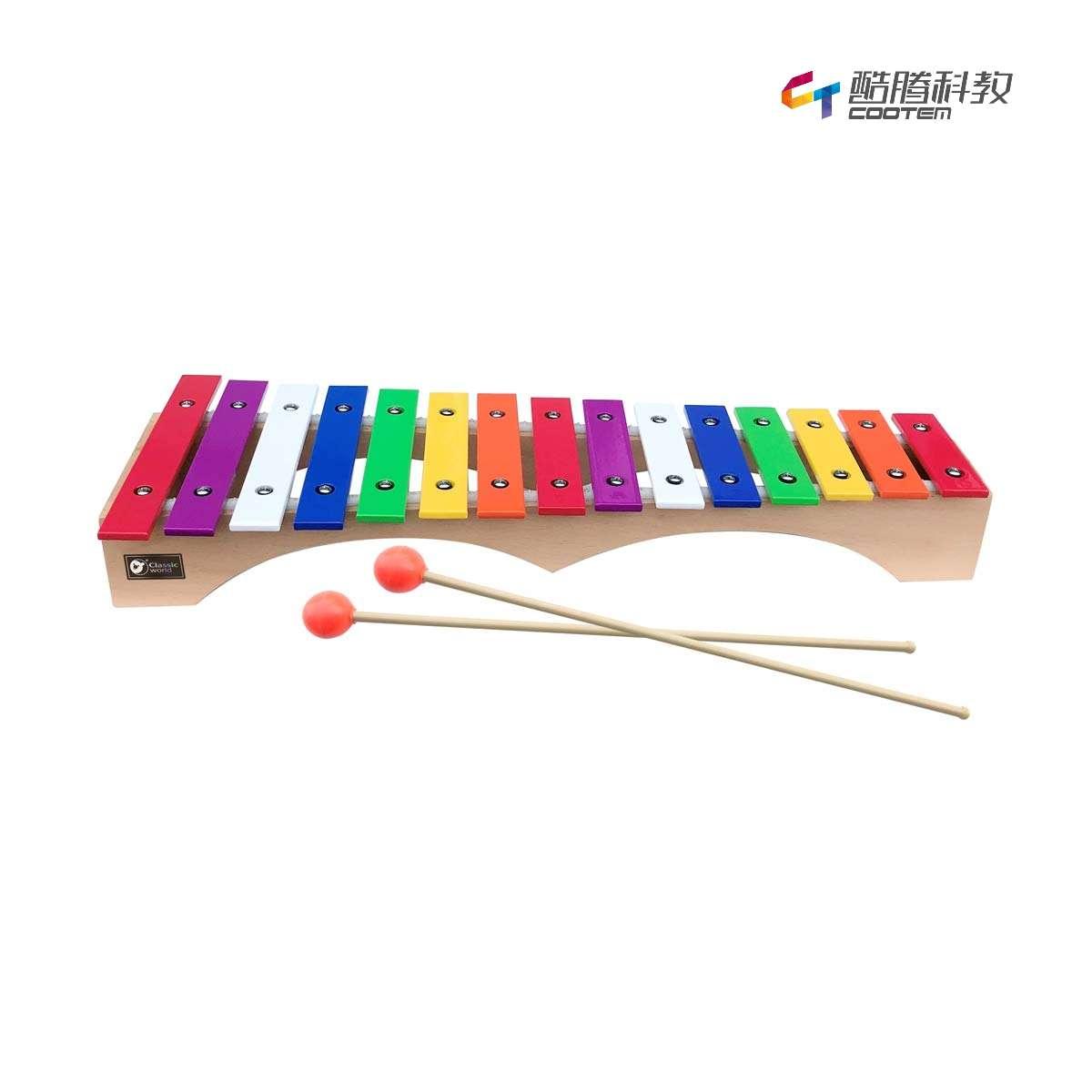 15音彩色金属键桥形打琴